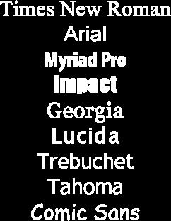 9 fonts